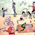 """Eile valis žürii Kuressaare linnavalitsuse ja Kuressaare lastekaitse ühingu korraldatud plakativõistlusele """"Sõltuvus"""" laekunud tööde hulgast välja kaheksa paremat."""