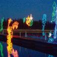 Alates läinud reede õhtust võib Kuresaare jahi-sadama esimese kai peal näha laste joonistuste põhjal valminud valguskujusid.