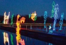 Meediakunstnikud kaunistasid Tori abaja valguskujudega