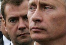 Peadmurdev ülesanne: kelle portreed eelistada – kas Putini või Medvedevi?