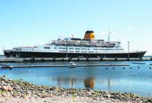 Inglise kruiisilaev tõi Saaremaale üle 400 turisti