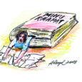 Olen päris mitu korda mõelnud, et miks noored romaane või muid raamatuid ei kirjuta. Eelmise suve alguses sain vastuse. Hakkasin lõppude lõpuks ise omakirjutatud raamatut arvutisse ümber trükkima. Kui lugesin oma n-ö käsitsi kokku kirjutatud kolmeaastased märkmed läbi, leidsin nii palju auke ja muud jama, mida kindlasti oli vaja parandada. Põhiline viga oli aegades, need olid segamini. Üks lause oli kirjutatud minevikus, järgmine lause hoopis olevikus. Väga segane!
