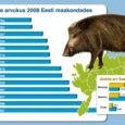 Postimehe andmetel on 2007. aastal Saare ja Järva maakonnas kütitud sigu rohkem, kui neid 2008. aastal loendati. Head tööd on teinud ka Lääne- ja Hiiumaa kütid. Ida-Virumaal aga loendati 2008. a sigu 1184, 2007. aastal oli neid lastud 200, mis teeb pea sama palju, kui on küttinud Muhu jahimehed.
