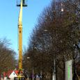Kuressaares Torni tänaval on alates eilsest kolme puu otsa katseliselt paigaldatud 20 plastmassist helkurit, mis jõuluehetena läikides peaksid seni puid vallutanud hakiparvedele väga vastumeelt olema.