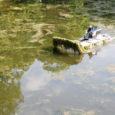 Suvi on käes ja korralikule suvele kohaselt on just nüüd suurem vetikategu lõpuks ometi lahti läinud. Vetikategu sai oodatud ikka pikka aega ja vesi vallikraavis lausa mühises taimedest. Kohe nii, et Kuressaare lossihoovis hulkuvad pardid arvasid, et ka neil on targem mööda vett ja taimi jalutada, kui seal ujuda. Kraavis kasvas justkui teine park! Aga oh seda rõõmu – täna on Tööloom linnarahva, turistide ja partide suureks meeleheaks käivitanud massina ning mässab vetikatega!