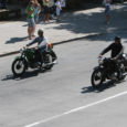 Kuressaare kesklinnas sai eile pärastlõunal näha vägevat vaatepilti sadade üksteise järel sõitnud mootorrataste näol.