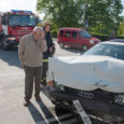 Eile hommikul oli Kuressaares Tooma kaupluse kõrval kolme auto kokkupõrge, milles inimesed kannatada ei saanud.
