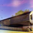 """Panga loodusemaja arhitektuurikonkursile laekunud neljast võistlustööst hinnati eile parimaks modernseim projekt """"Panga õhk"""", mille oli konkursile saatnud arhitektuuribüroo 3 + 1."""