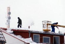 Ettevaatust lumekoristamisel katustelt!