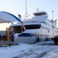 """Saaremaa Laevakompanii (SLK) tegevdirektori Tõnis Rihvki sõnul on eile kohale jõudnud uue parvlaeva """"Muhumaa"""" avareis Heltermaa–Rohuküla liinil plaanitud esmaspäevaks väljumisega kell 18.30 Rohukülast."""