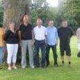 Eile kohtus Orissaare vallavolikogu aseesimees Krista Riik aleviku staadionil külalistega Norrast.