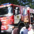 Eile külastasid Saaremaa päästjad koos Nubluga Kärla lasteaeda, kolmapäeval võis Nublut ja suurt tuletõrjeautot näha Valjala lasteaia juures.