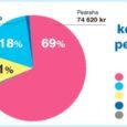 Kust tuleb ja kuhu läheb perearsti raha? 2009. aastal kulus haigekassal tervishoiuteenustele 8 067 791 000 krooni, sellest üldarstiabi tervishoiuteenustele 1 056 204 000 krooni ehk 13,1%. Hüpoteetiline keskmine nimistuga töötav perearst sai oma nimistu kohta haigekassast tulu 2009. aastal 108 638 kr kuus (vt graafik). Hüpoteetiline sellepärast, et keskmine on arvestatud kõigi 803 perearstinimistu kohta, aga keskmist nimistut pole olemas – mõni saab kvaliteeditasu või kaugustasu, teine ei saa, mõni kasutab oma uuringufondi vähem, teine rohkem jne. ALLIKAS: haigekassa