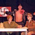 """GÜMNAASIUMI ARVESTUSES II KOHT: 10.b klassi kava """"Gitler kaput"""", vasakult Lauri Lember, Mikk Rang ja Jarvo Kärg."""