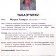 Nädalavahetusel levis internetis tagaotsimiskuulutus ning teisipäeval rippusid Kuressaare bussijaamas juba teated tagaotsitava Margus Punapardi kohta. Punapart ise kinnitab, et tegemist on alatu laimukampaaniaga.