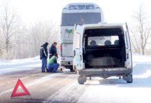 Maaliini bussil purunes rehv