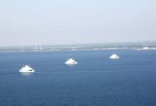 Kolm laeva lõi Väinamerel tantsu