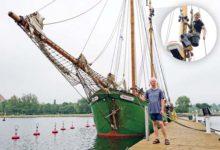 Kuressaare jahisadamat väisas taas saja-aastane kaubapurjelaev