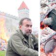 """Seni Kuressaare linnuse esist ehtinud paarisaja aasta vanused kahurid pandi eile konserveerimise käigus kümneks tunniks jaanituld meenutavasse lõkkesse """"ravi"""" saama."""