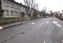 Tormituul kukutas Kuressaares tänavavalgustusposte