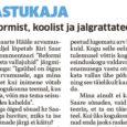 """Eilse Saarte Hääle arvamusleheküljel lõpetab Jüri Saar oma kommentaari """"Reformi ei otsusta vallajuhid"""" järgmise lõiguga: """"Igaühel on õigus oma arvamusele, aga mina leian, et kui inimene võtab sõna kogukonna teemal, […]"""