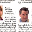 Regionaalminister Siim Kiisler on töötanud välja seaduseelnõu, mis võimaldaks seaduseks saamisel liituda ühe maakonna piires ka neil omavalitsustel, kel ei ole ühist piiri. Eelnõu eesmärk on lõpetada mitmes Eesti paigas […]