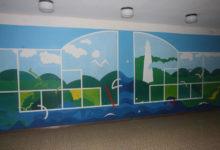 Kihelkonna koolis  taastati seinamaalingud