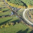 Saaremaa ralli 2013 teise võistluspäeva pildid Lõmala-Kaugatoma katselt. Pildistatud õhust Tiibvarjuga lennates. Fotograaf: Kristian von Wowern/Saaremaa Tiibvarjuklubi