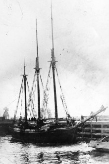 KOLMEMASTILINE KAHVELKUUNAR: Saarlaste ehitatud ja Kolumbuseks ristitud laev 1923. aastal. Foto: internet