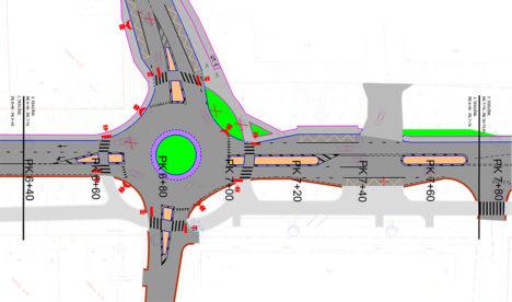Joonisel on kulgemine ringtee poolt kesklinna (vasakult paremale), suunaga üles on näha Smuuli tänav.