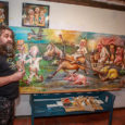 """Suuremõõtmelise maali tellis peamiselt naljapilte joonistavalt Erki Evestuselt Vihula vallas Palmse Traileri kaubamärgi all suuri põllumajandushaagiseid tootev firma. """"Neil on kontoris suur nõupidamisruum, mille seinale maal on mõeldud. Algne soov […]"""