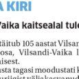 14. augustil täitub 105 aastat Vilsandi rahvuspargi vanima osa, Vilsandi-Vaika linnukaitseala moodustamisest. Üle 20 aasta tagasi moodustati kunagisest esimesest linnuriigist väljakasvanud Vilsandi riikliku looduskaitseala põhjal aga nüüdne Vilsandi rahvuspark. Eesti […]