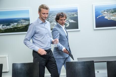 SADAMA VEDURID: Pärast Allan Kiili ja Ain Kaljuranna vahistamist nimetati Tallinna Sadama juhtideks Marko Raid (vasakul) ja Carri Ginter.  TAIRO LUTTER /POSTIMEES