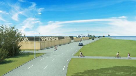 TULEVIKUVISIOON: Kui Saarte Liinide kavatsus teoks saab, näeb Roomassaare sadam tulevikus sootuks teistsugune välja.  ESKIIS