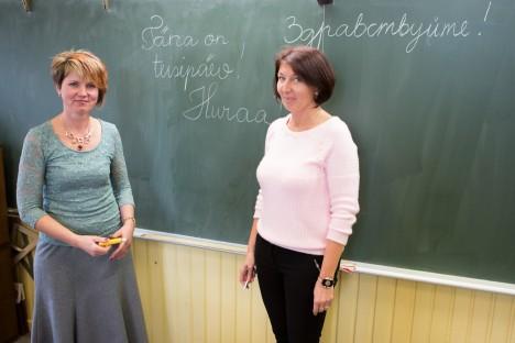 VIIENDIKE KLASSIJUHATAJAD: Nii Kadi Tänav Tänak (vasakul) kui Tatjana Truuväärt-Grubeljas on sel aastal viienda klassi juhatajad.              RAUL VINNI