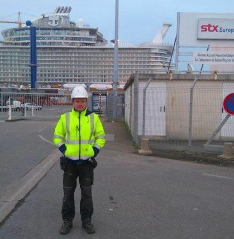 MEREHIIGLANE VALMIB: Margo Nääliku sõnul on maailma suurim ristluslaev liinile minemas tänavu mais. ERAKOGU