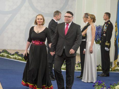 Leedri külavanem Indrek Tiitson koos abikaasa Jaanika Tiitsoniga.