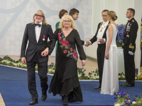 Muusik ja festivali Juu Jääb korraldaja Villu Veski koos abikaasa Inna Veskiga (Foto Andres Putting / Presidendi kantselei)