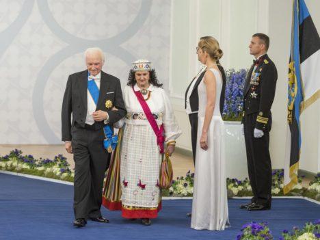President Arnold Rüütel koos abikaasa Ingrid Rüütliga (Foto Andres Putting / Presidendi kantselei)