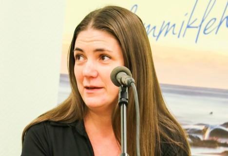 SÕNA SEKKA: Märtsi alguses osales Kadri Tillemann ka Saarte Hääle, Kadi raadio ja sihtasutuse Turvaline Saaremaa korraldatud haldusreformi arutelul Orissaares. IRINA MÄGI