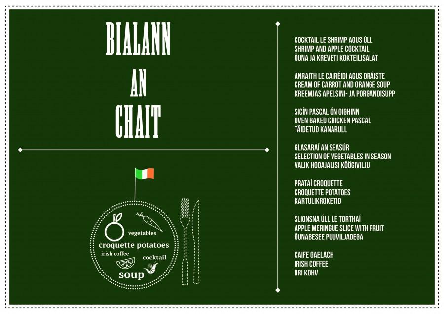 """Tuleval neljapäeval korraldatakse Kuressaare ametikoolis Iiri nädala raames Iiri õhtusöök ja restoranist Kass saab Iiri pubi Bialann An Chait. """"Iiri keeles on väljend """"Ceol agus Craic"""", mis tähendab muusikat ja […]"""