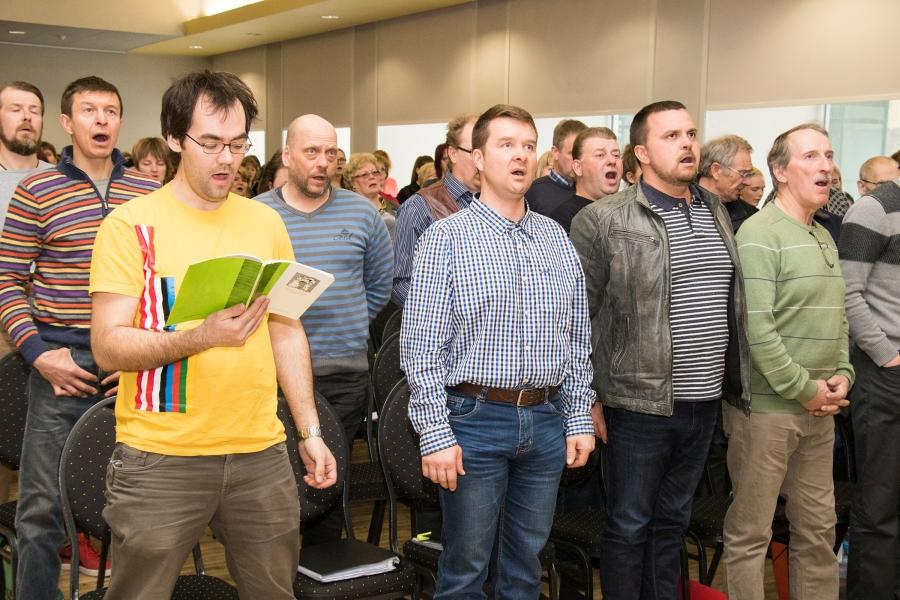 Kuressaare kultuurikeskuses toimus laupäeval Saare maakonna 51. laulupeo ühisproov.