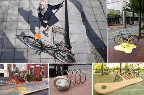 RATTAHOIDJA: Margit Kõrvitsa sõnul peaksid rattahoidjad olema praktilised, nägusad ja huvitavad. Praegu linnas selliseid ei ole. RAUL VINNI