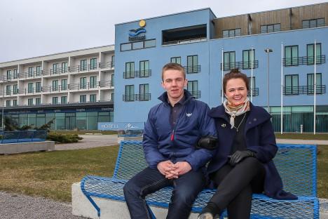 UUED OMANIKUD: Laura Sohvie ja Oskar on kolmas põlvkond Liblikute suguvõsast, kes Saaremaa spaamaastiku pioneeriks olnud firma juhtimisega tegelema hakkab. MAANUS MASING