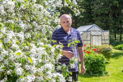METSAMEES LILLEILUS: Maikuus juubelit tähistanud Rein Kirst saab oma sünnipäeva pidada igal aastal kesk lillemerd. MAANUS MASING