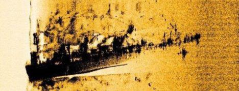 Külgvaate sonari pilt vraki leiukohast. Eesti Merevägi 2010. Objekti