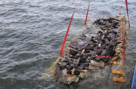 Vrakk uputati säilitusalale Tallina lahes 4.09.2015.