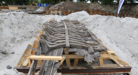 Viljo vrakk peale arheoloogilisi väljakaevamisi ja toestamistöid. Maili Roio 2015.