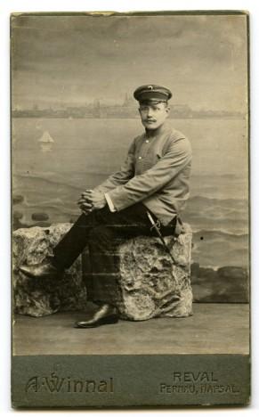LAEVAHUKU TUNNISTAJA: Vilsandi tuletorni ja Päästejaama ülem Artur Toom. Foto on tehtud aastal 1912. Foto: EESTI MEREMUUSEUM