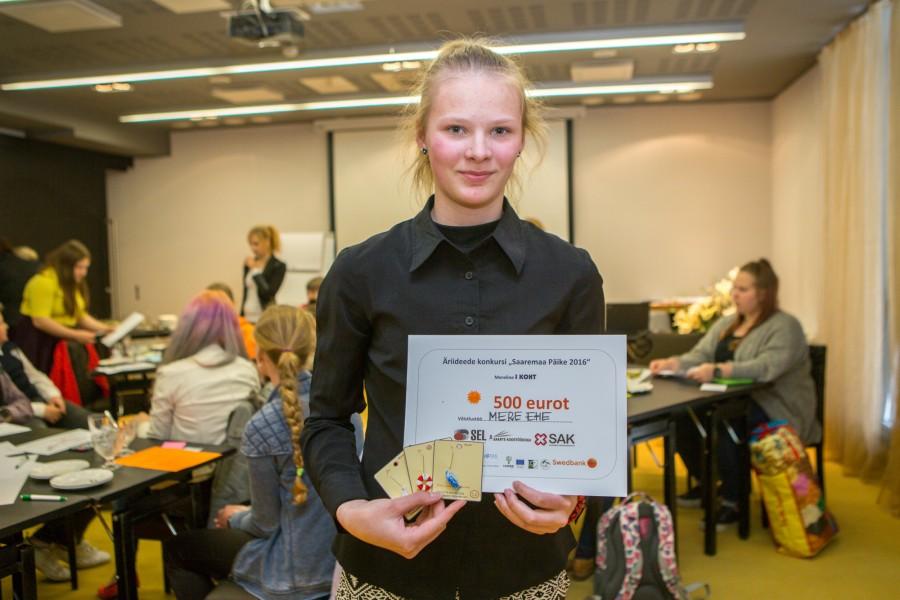 Juba kaheksandat aastat toimunud Saare maakonna noorte äriideede konkursi Saaremaa Päike võitis mereteemaline ehe, mille autor on Brigitte Mihkelson (fotol) Valjalast. Ideid, mis eile finaalis žürii ette jõudis, oli ühtekokku […]